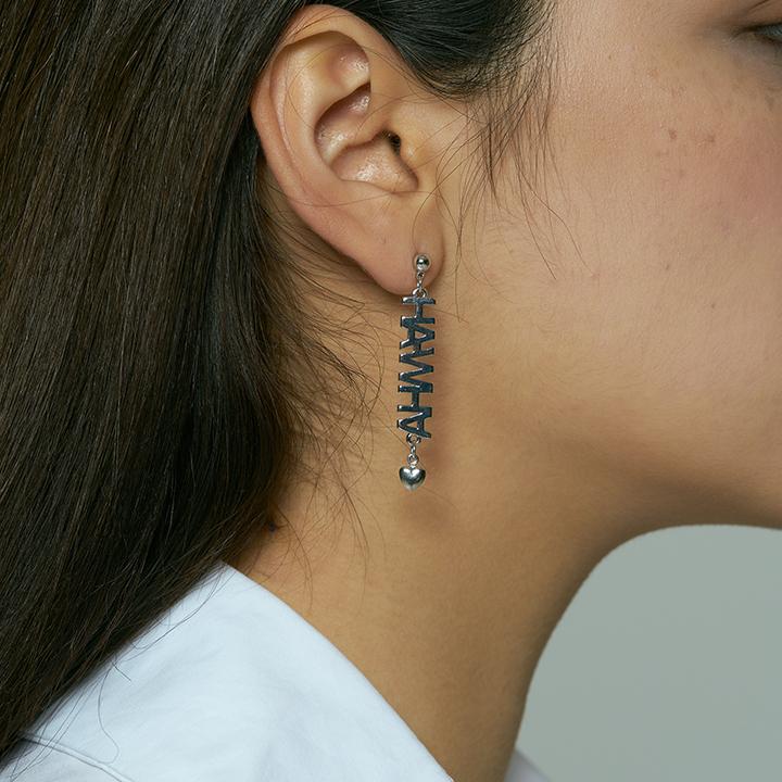 Logo heart earring