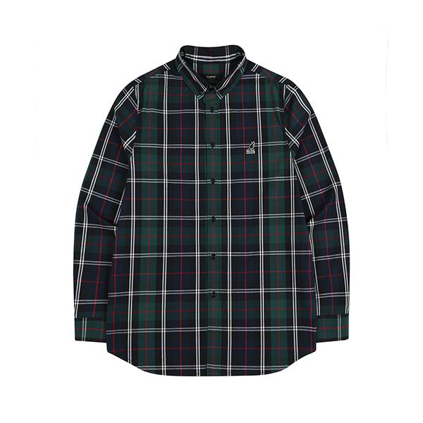[특가]KANGOL Check Shirt 7040 GREEN