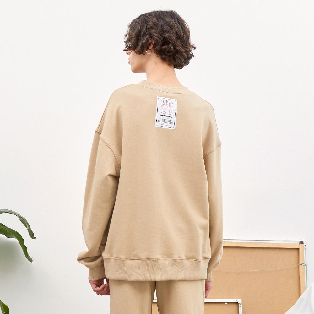 패치 스웨트 셔츠 베이지