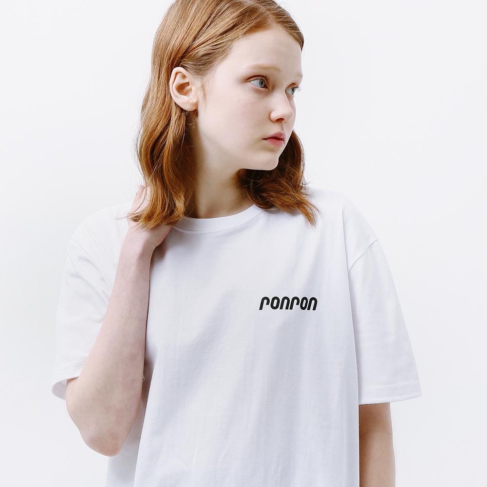 RONRON LOGO T-SHIRT WHITE
