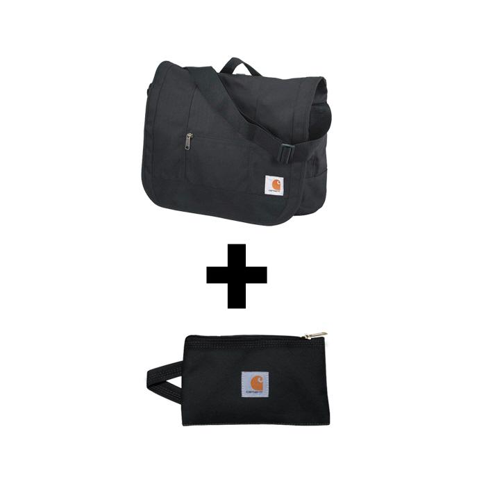 [한정세트]국내칼하트 D89 메신저백+멀티파우치 S 블랙
