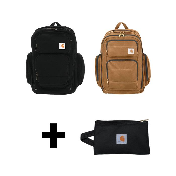 [한정세트]국내칼하트 레거시 디럭스 백팩+멀티파우치 S 블랙