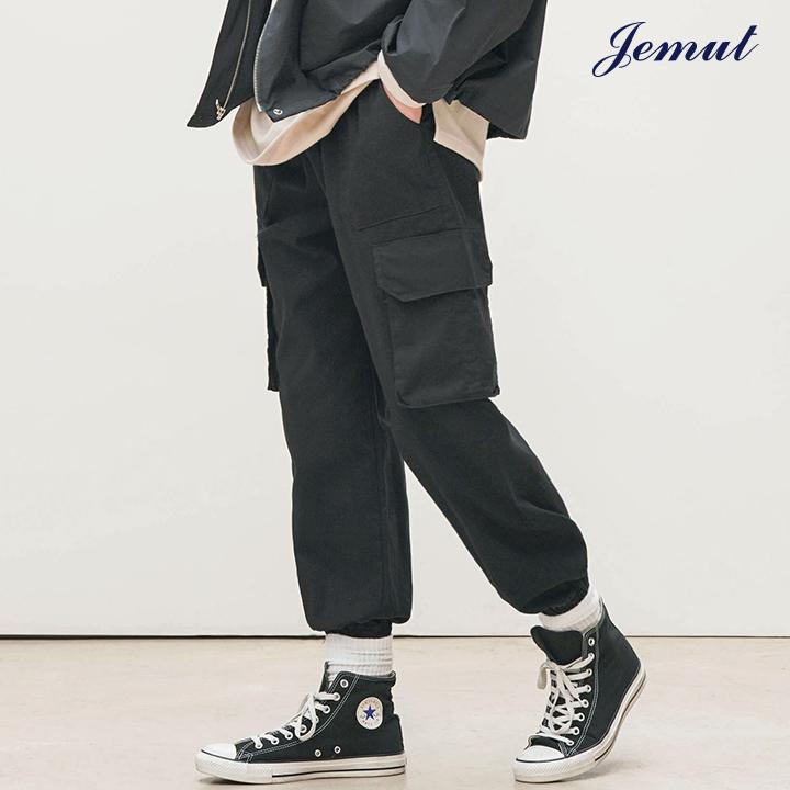 [제멋] 애니 카고 조거팬츠 블랙 KJLP2275