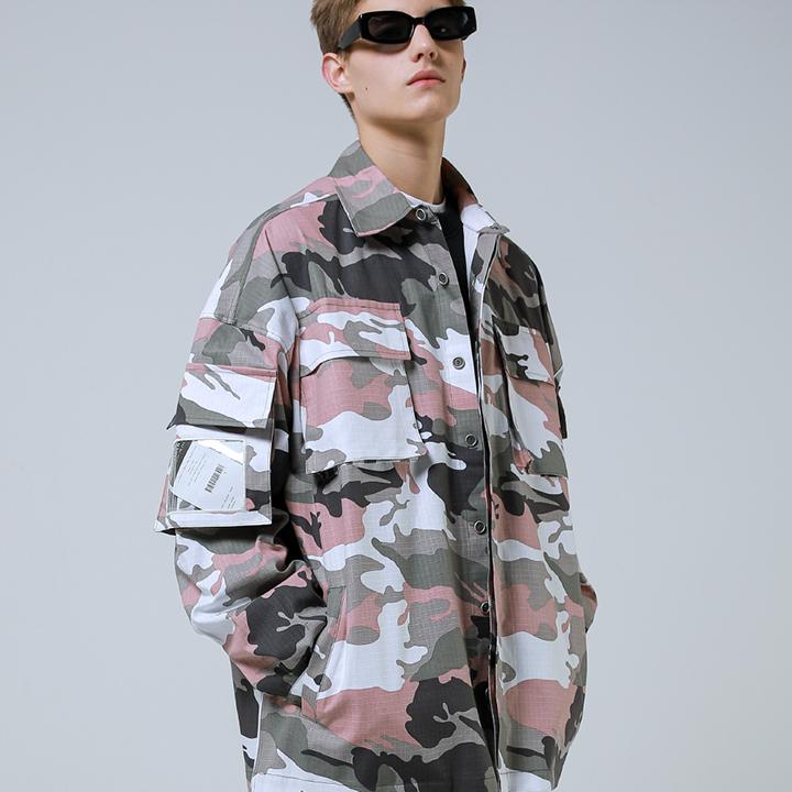 Camo PVC Jacket_Pink