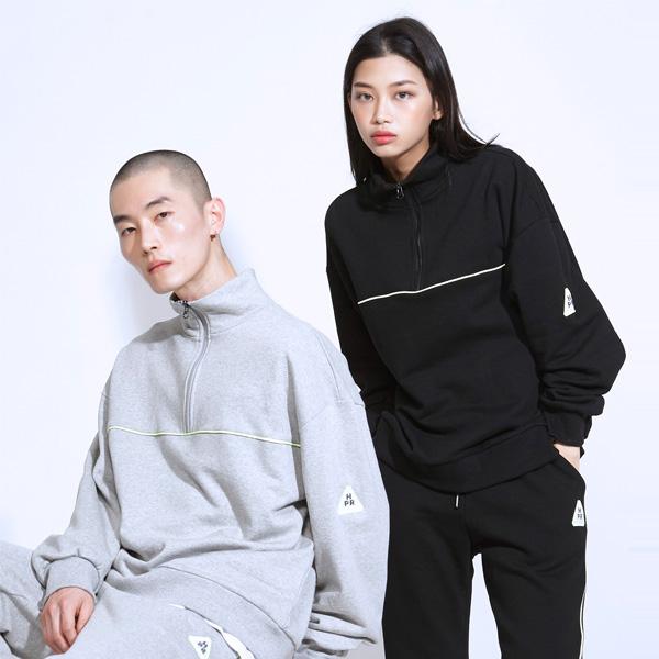 [트레져]파이핑 컬러 아노락 맨투맨 스웨트셔츠