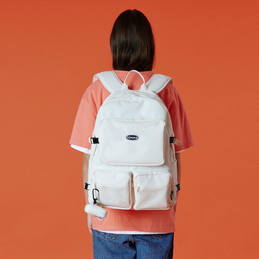 Two pocket original backpack-ivory
