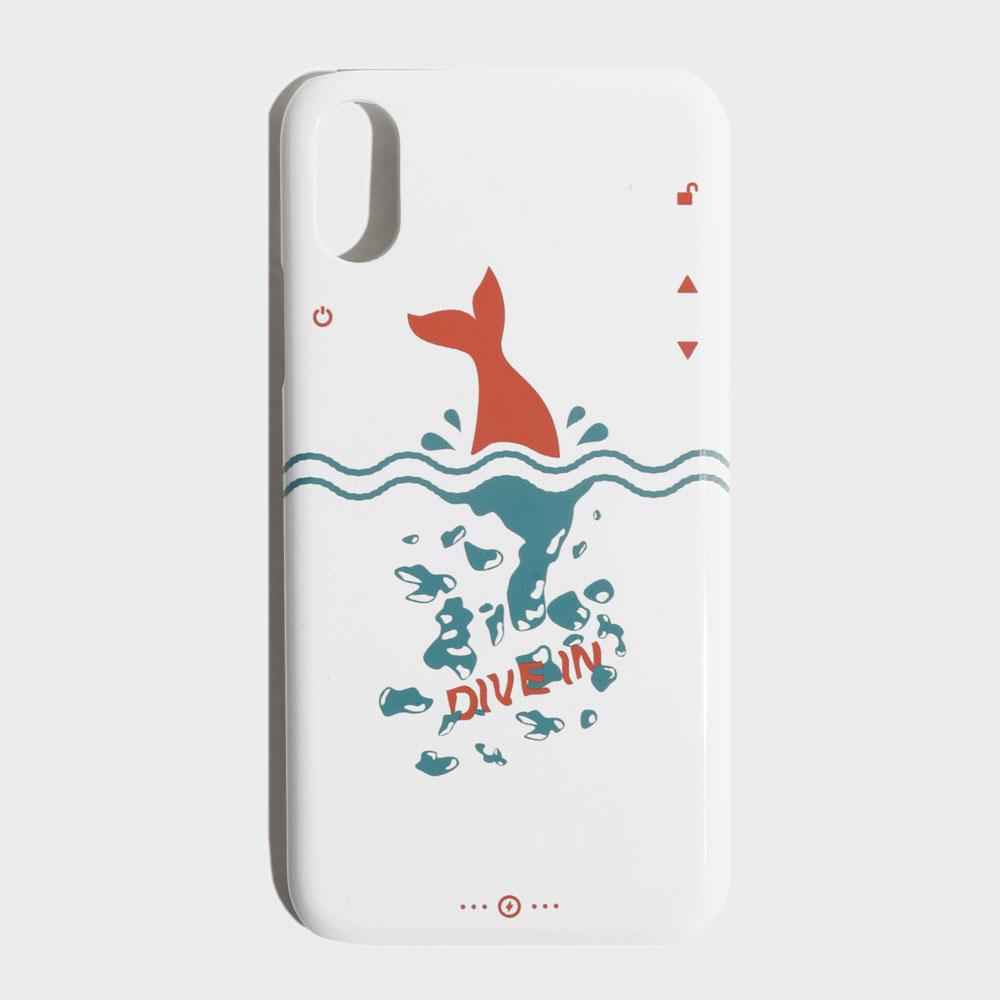 [에즈카톤] 다이브인 휴대폰케이스(유광) 화이트