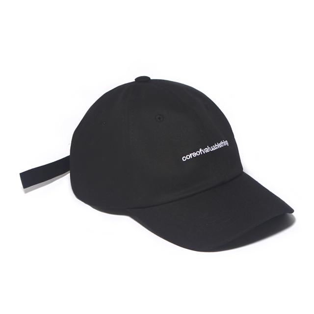 CORE CURVED CAP-BLACK