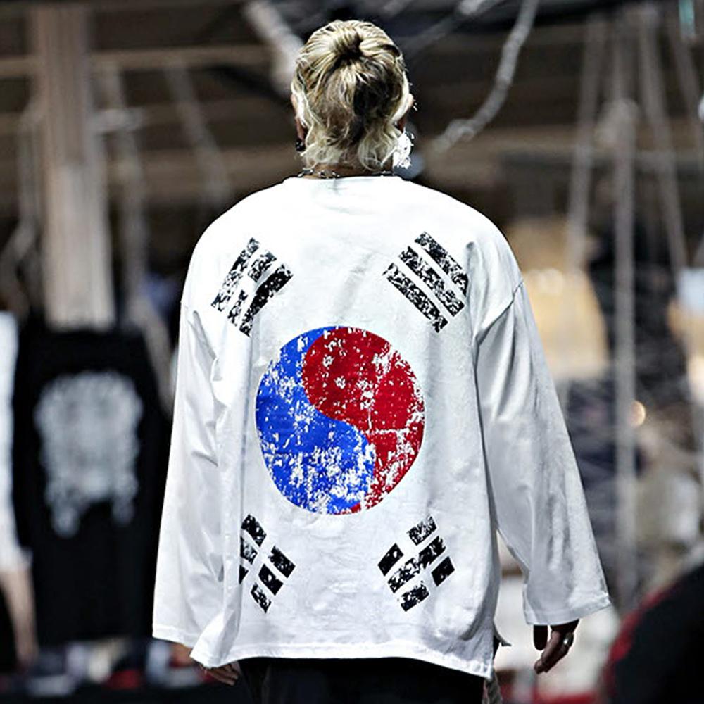 바이더알 대한민국 태극기 국기 루즈핏 티셔츠
