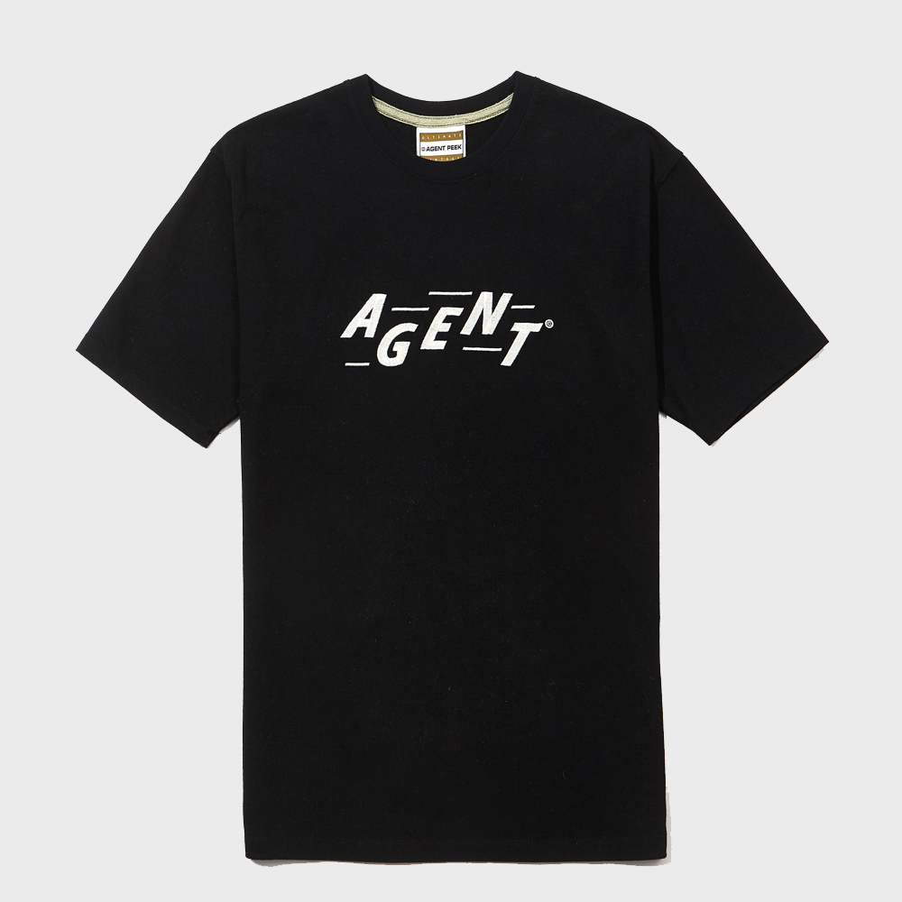 20SS AGENT INITIAL SHORT SLEEVE [BLACK]