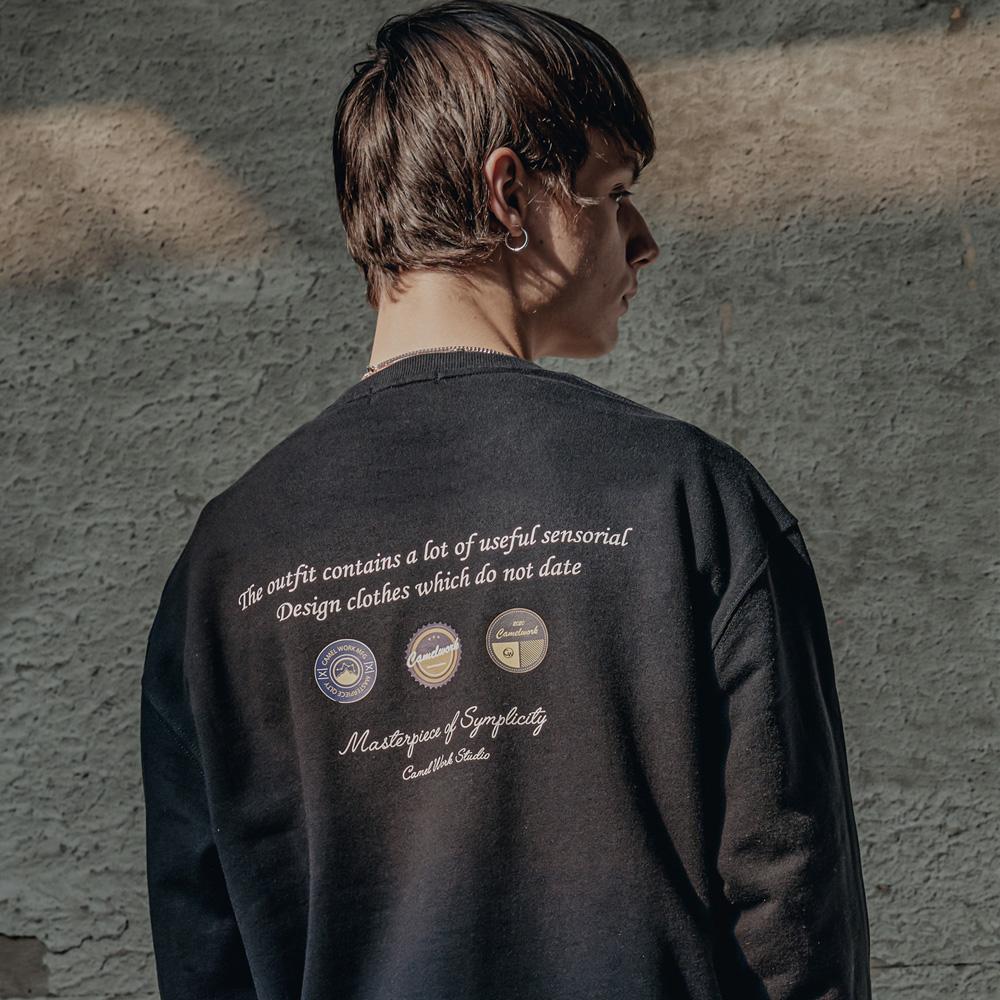Badge Sweatshirts(Black)