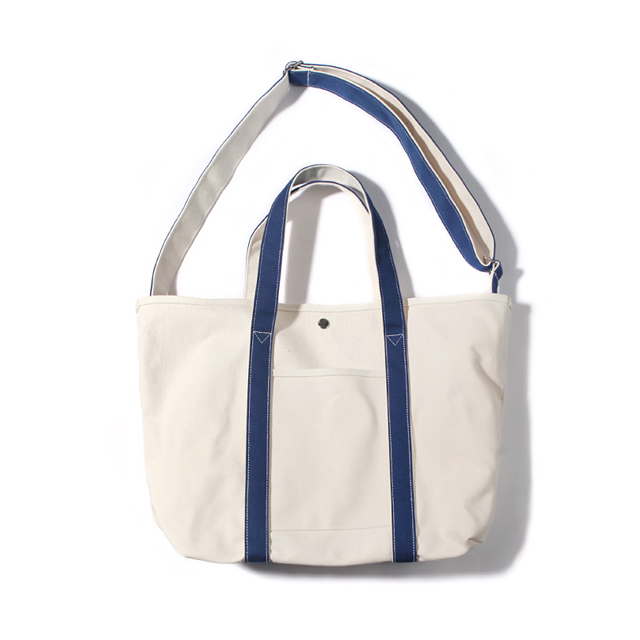 CANVAS BASIC TOTE-NATURAL.BLUE