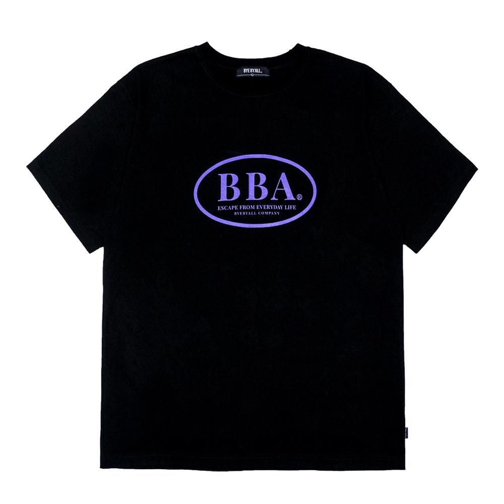BBA 로고 반팔 티셔츠 - 블랙
