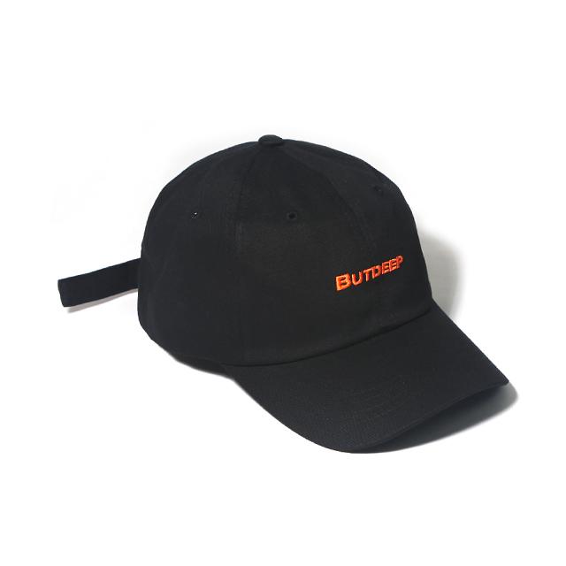 LINE CURVED CAP-BLACK