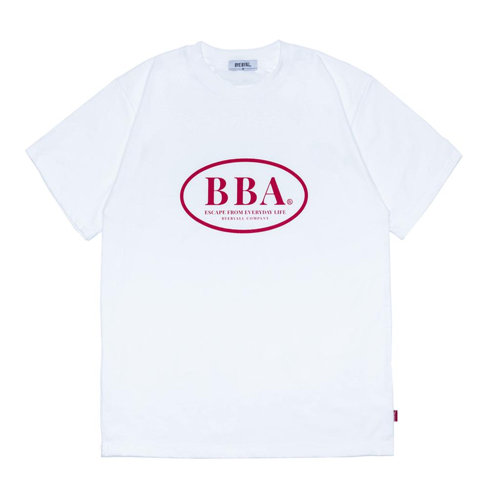 BBA 로고 반팔 티셔츠 - 화이트