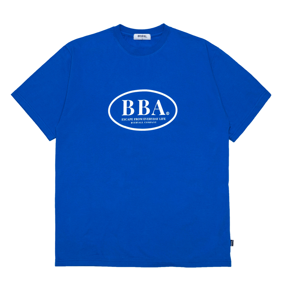 BBA 로고 반팔 티셔츠 - 블루