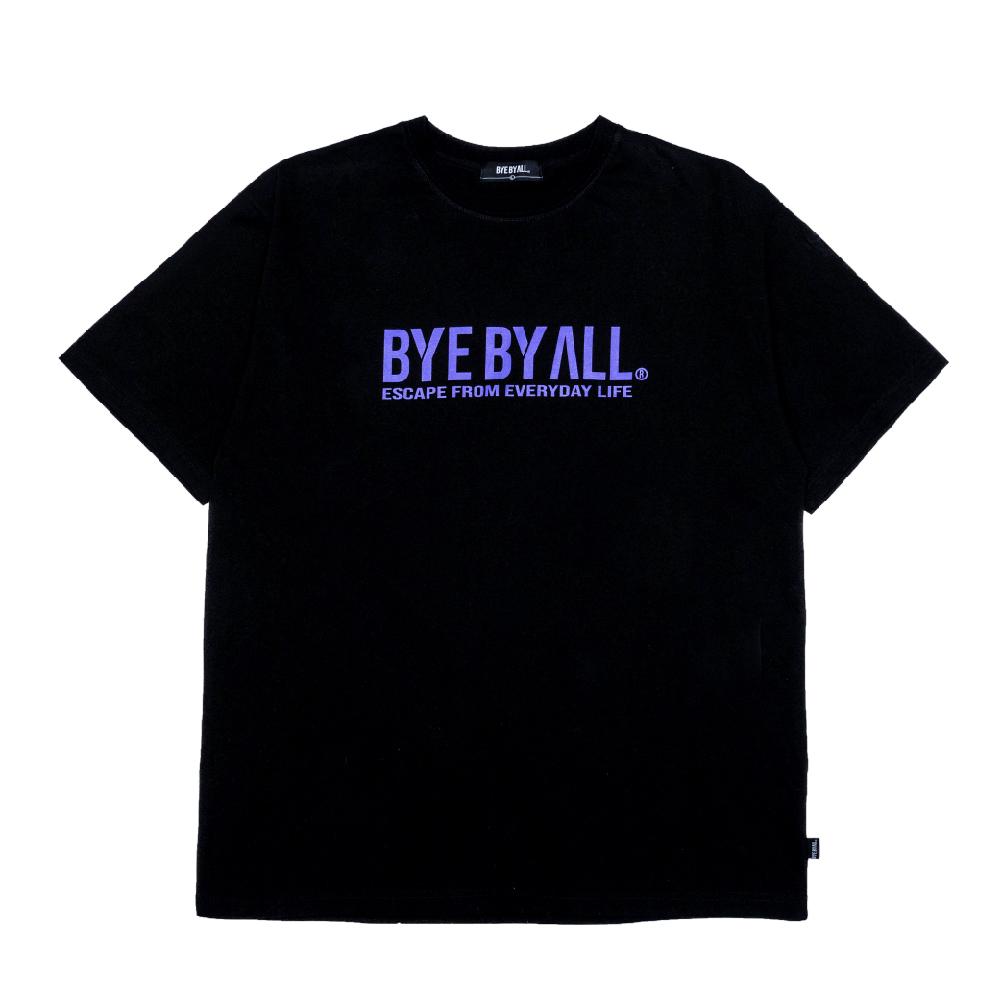 바이바이올 메인 로고 반팔 티셔츠 - 블랙