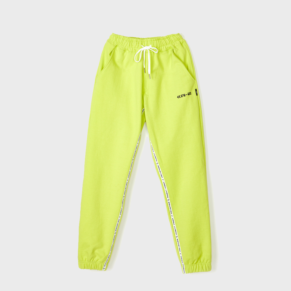 TAPE COLORING EASY PANTS [NEON GREEN]