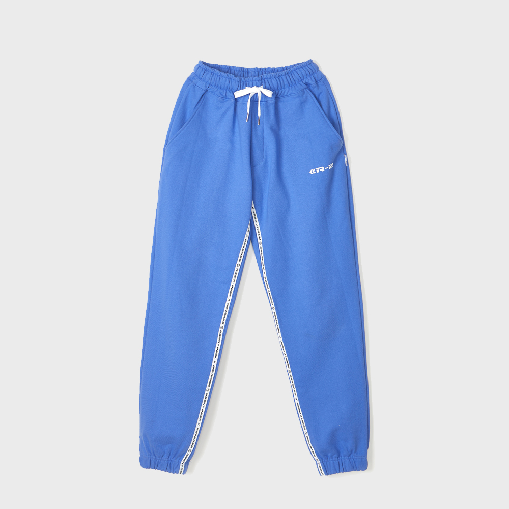 TAPE COLORING EASY PANTS [NEON BLUE]