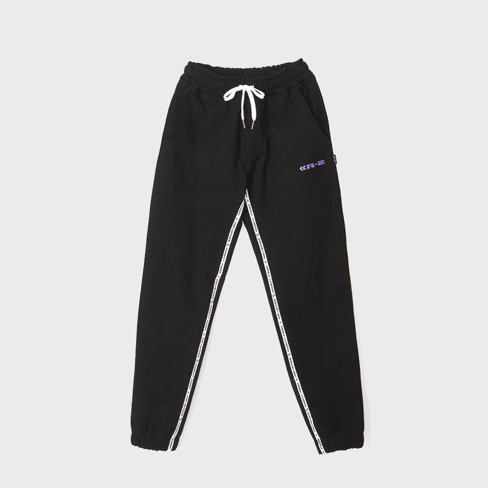 TAPE COLORING EASY PANTS [BLACK]