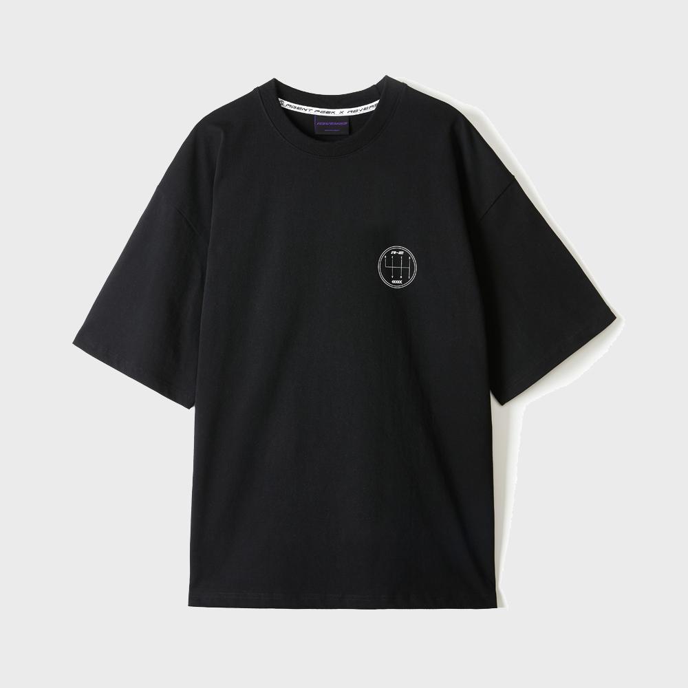 OVERSIZE R2 LOGO T-SHIRTS [BLACK]