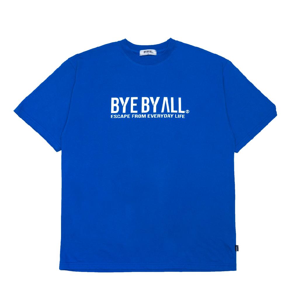 바이바이올 메인 로고 반팔 티셔츠 - 블루