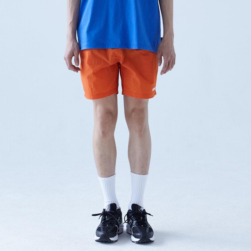 바이바이올 메인 로고 숏 팬츠 - 오렌지
