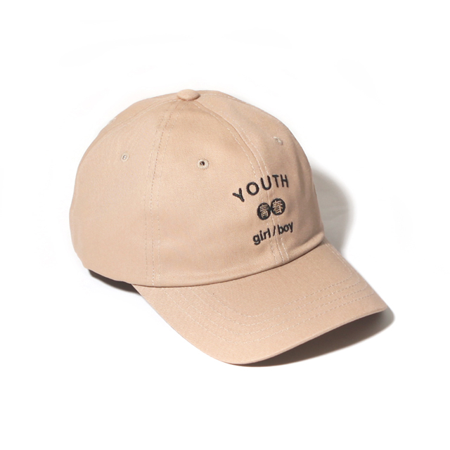 YOUTH CURVED CAP-BEIGE