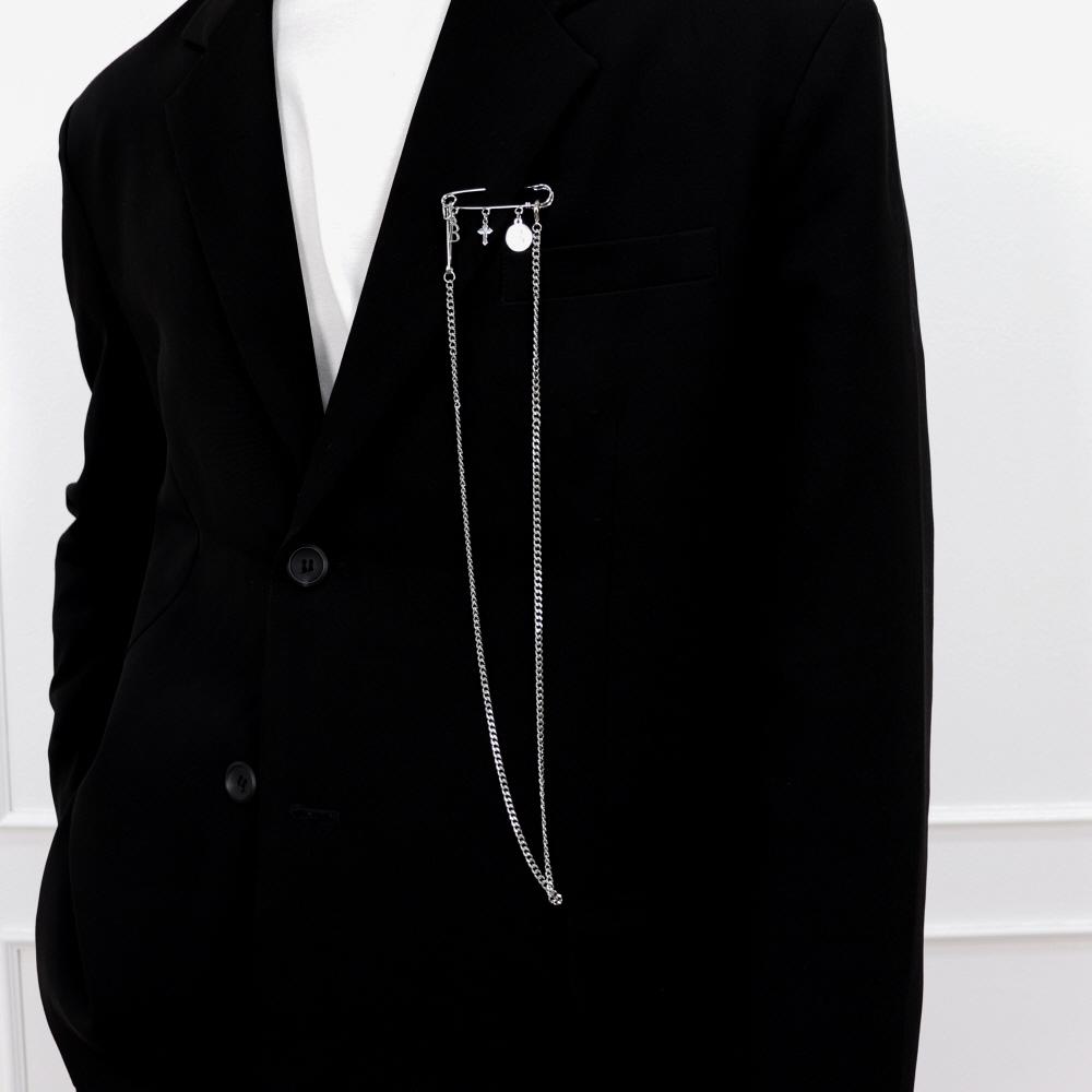 [여신강림 황인엽/김희철/이한결 착용] 남자 브로치 옷핀 체인 CLEF Broch