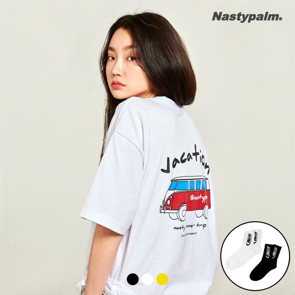 [단독할인][빅사이즈 추가] 베케이션 로고 반팔 3color