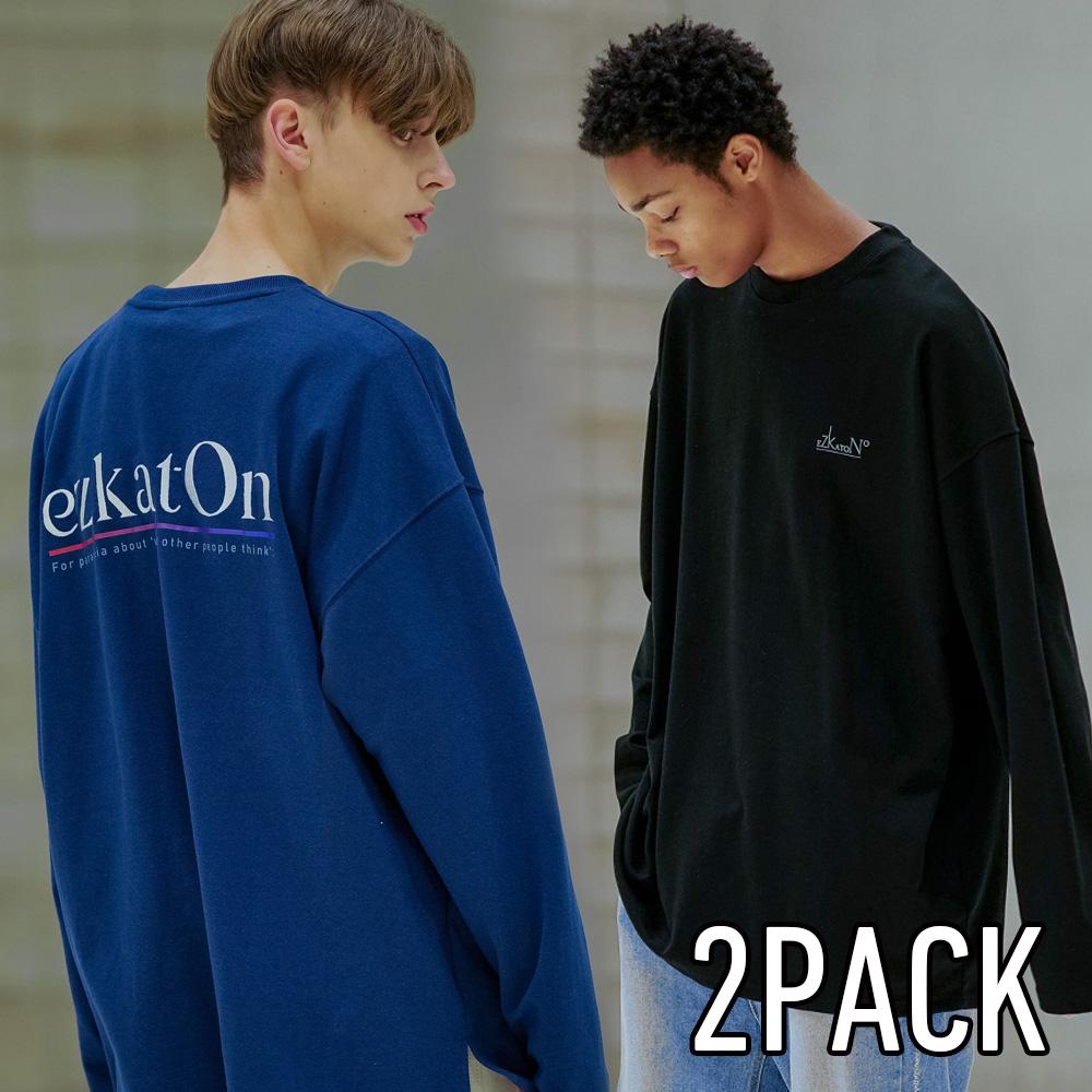 [단독구성][TWN+EZ+DY] 인기 간절기 베스트 긴팔 2pack