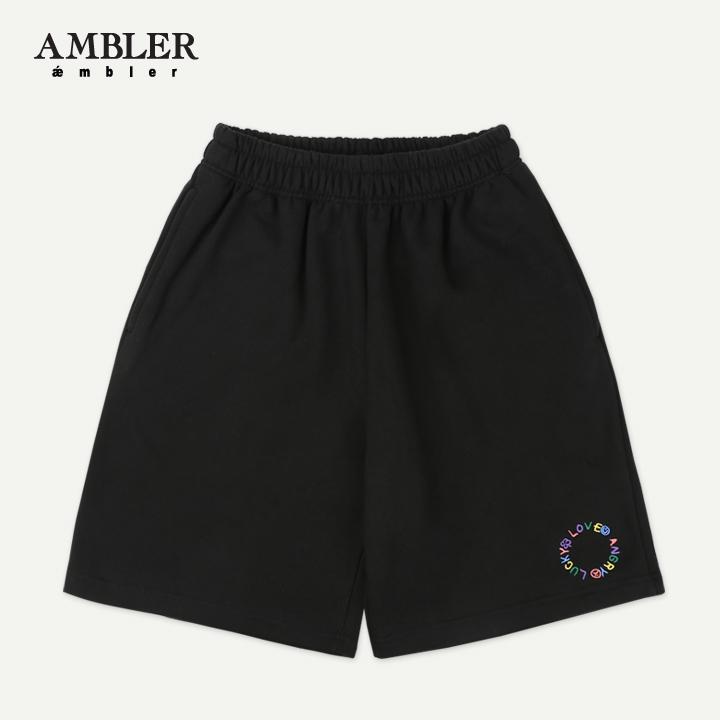 [엠블러]AMBLER 20SS 신상 트레이닝 5부 반바지 ASP301-블랙