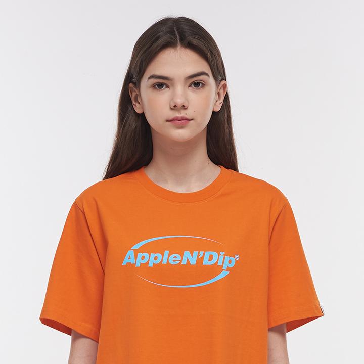 하프써클 로고 티셔츠[오렌지]