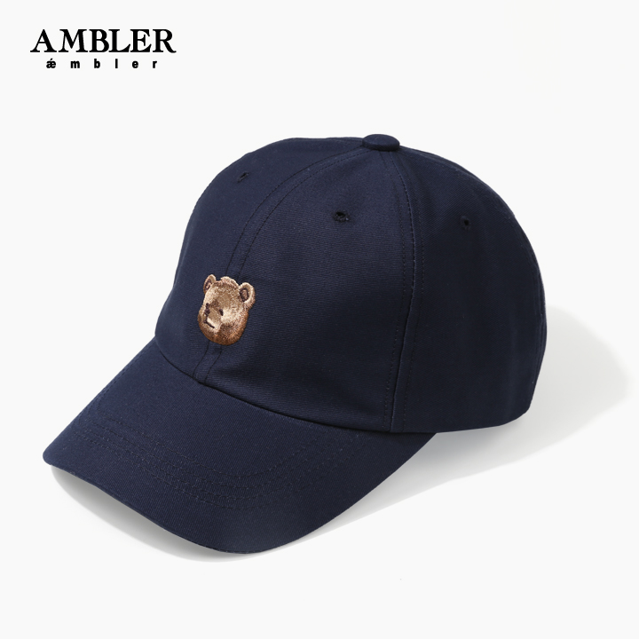 [AMBLER]엠블러 20SS 신상 자수 볼캡(ball Cap) 야구모자 AH202-네비이