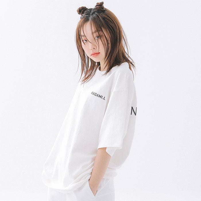 [셀럽 착용] Oversize 1990 Logo T shirt White