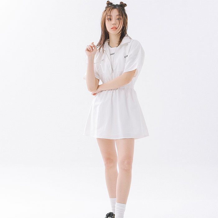 [공원소녀 서경착용] Oversize 1990 Logo One piece White