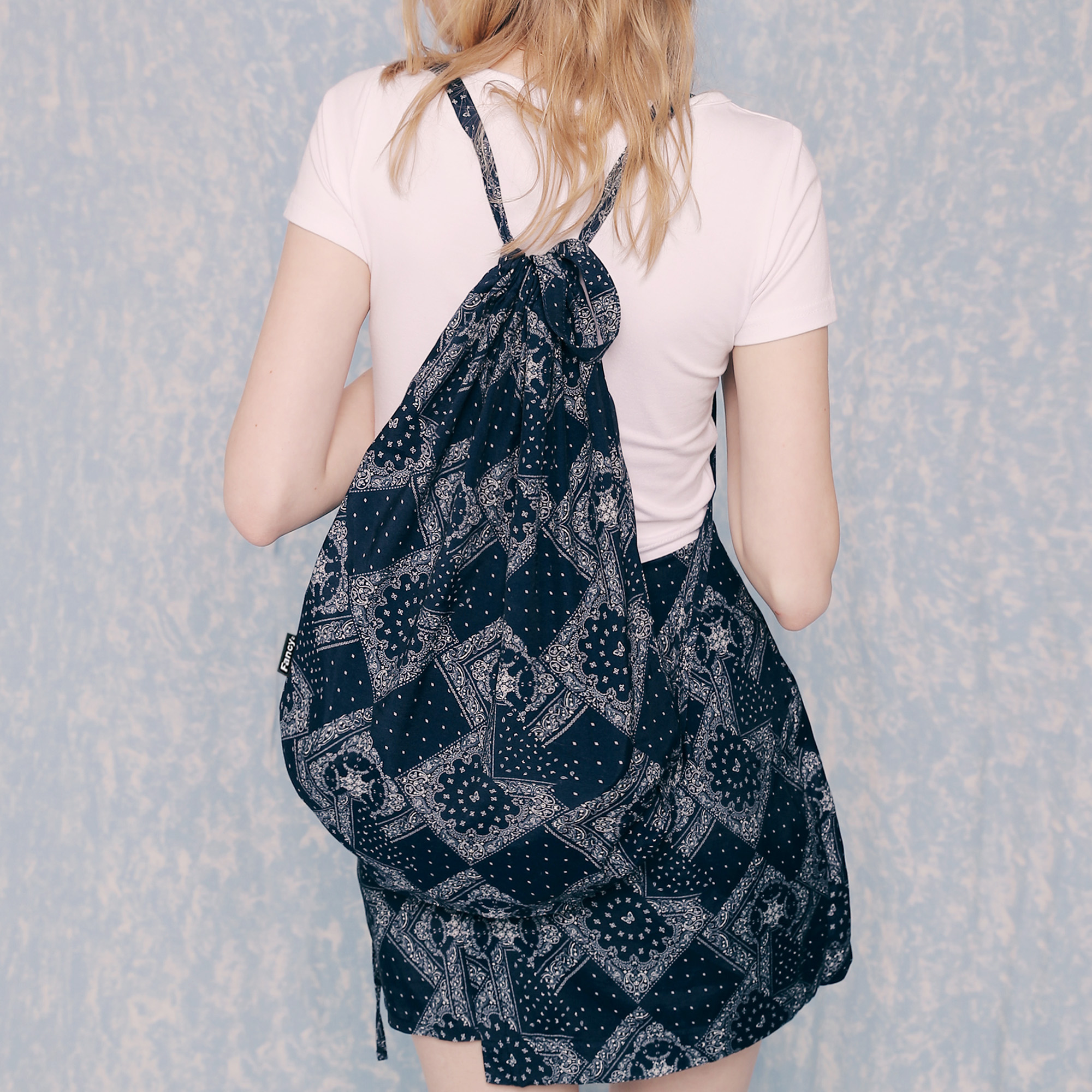 [NF]FANCY PAISLEY BUTTERFLY GYM SACK (NAVY)(20SS-F908)