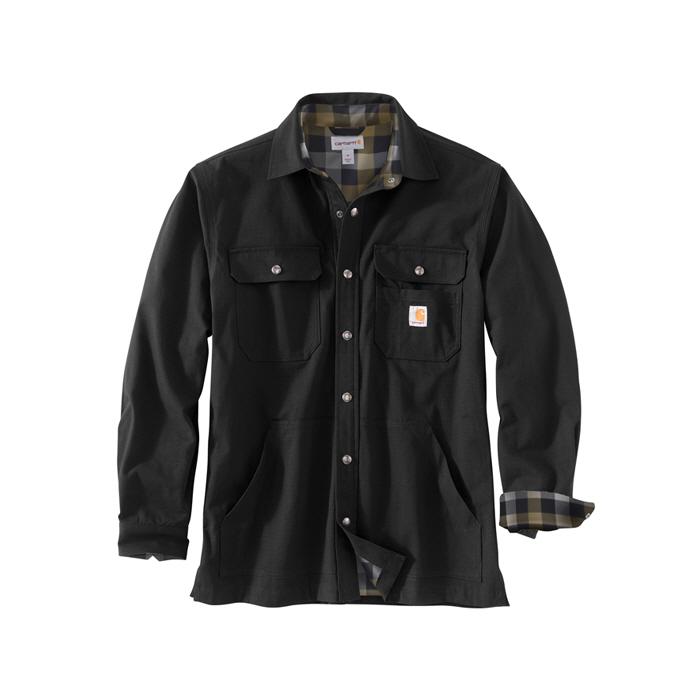 [국내배송]칼하트 립스탑 솔리드 셔츠 자켓 블랙 / 104146-001