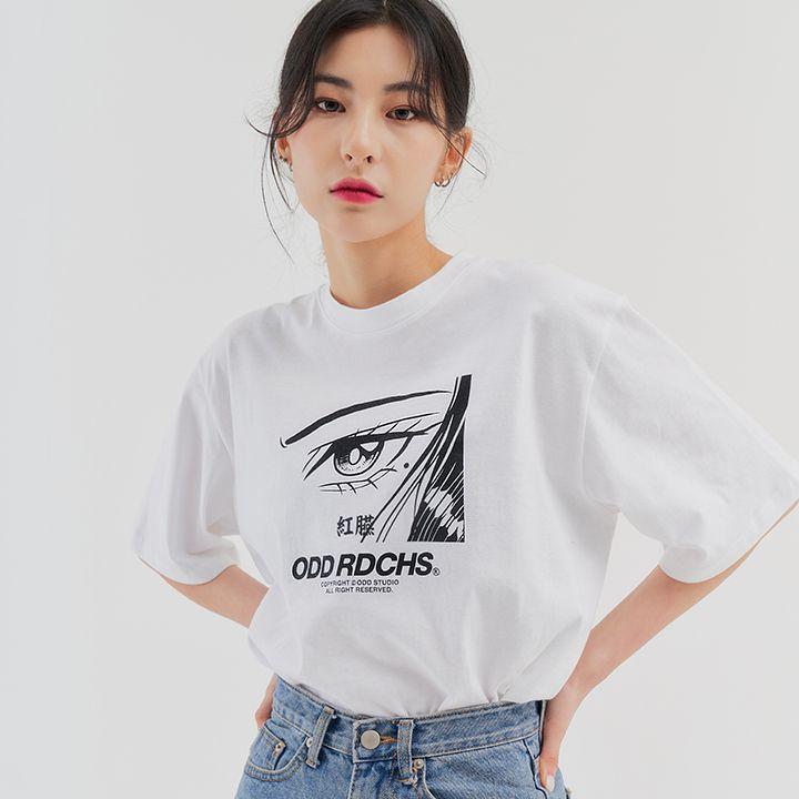 페이스 티셔츠 - WHITE