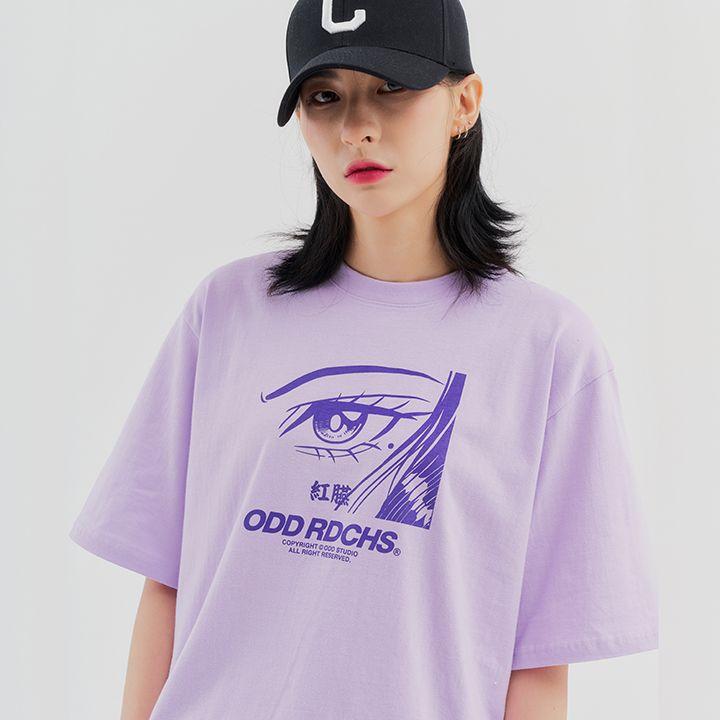 페이스 티셔츠 - PURPLE