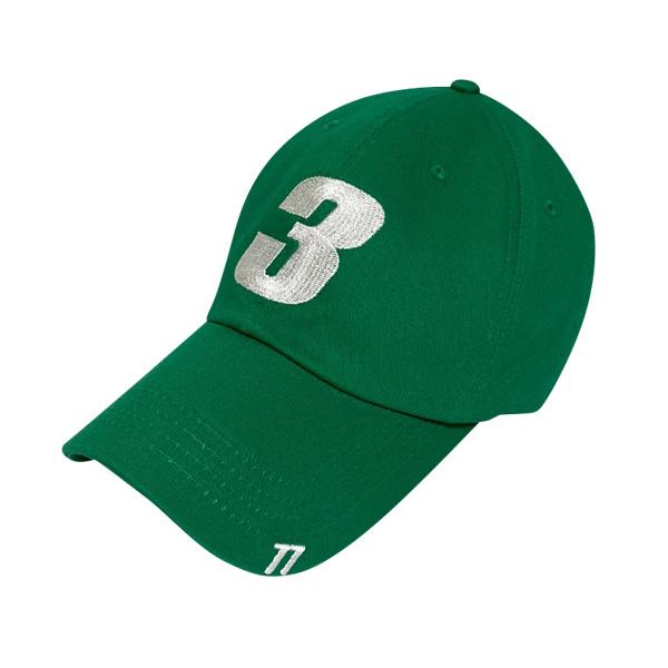 [단독할인][377] 3 LOGO CAP GREEN / OVER FIT