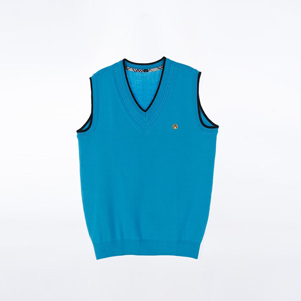 [교복아울렛] 파란색 교복조끼 (망포고)