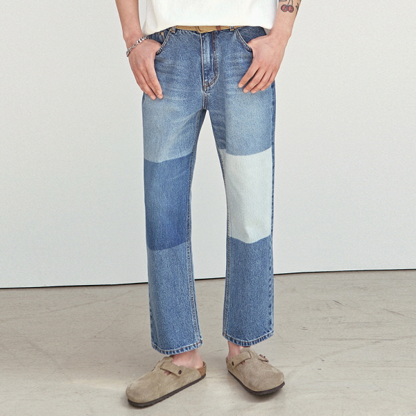 [5/18] PANEL WASH WIDE JEAN_BLUE DENIM