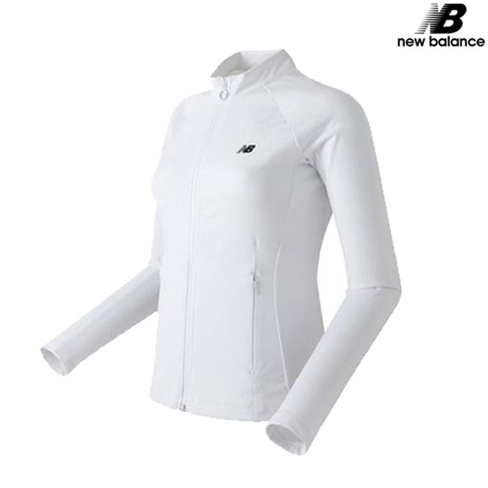 [국내배송]뉴발란스 여성 폴리슬림 트레이닝 자켓 바람막이 패딩 NBMD64W028-WH