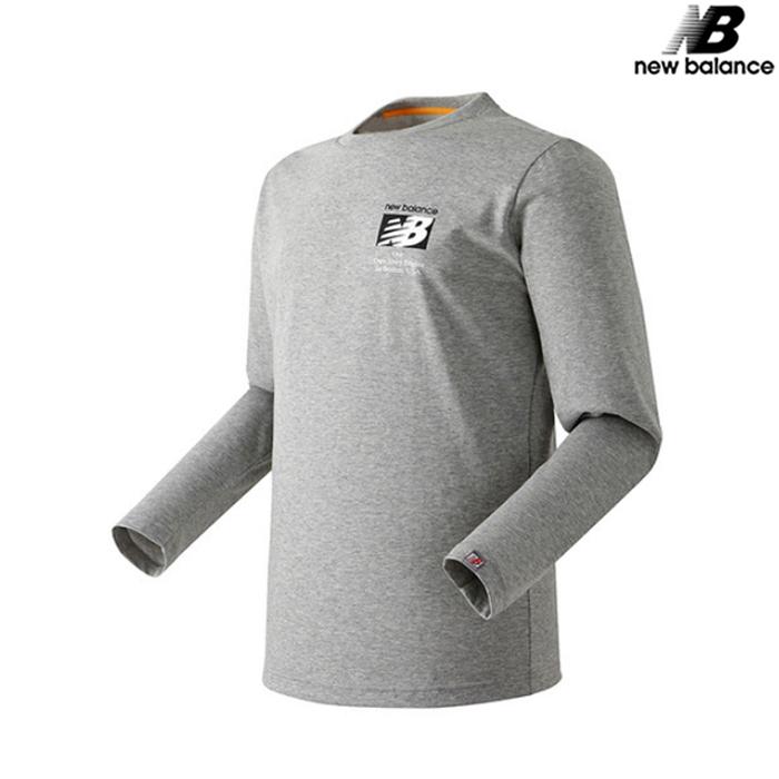 [국내배송]뉴발란스 공용 가을팩 CP싱글 긴팔티 맨투맨 티셔츠 NBND739033-GR