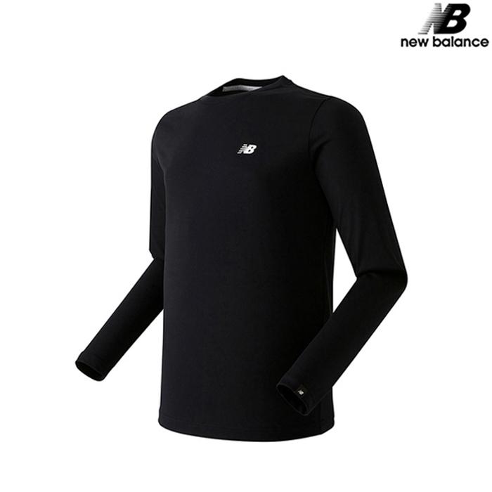 [국내배송]뉴발란스 공용 베이직 긴팔티 맨투맨 티셔츠 NBND731013-BK