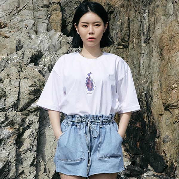 [단독할인](rkst-0034)불타는 손 티셔츠