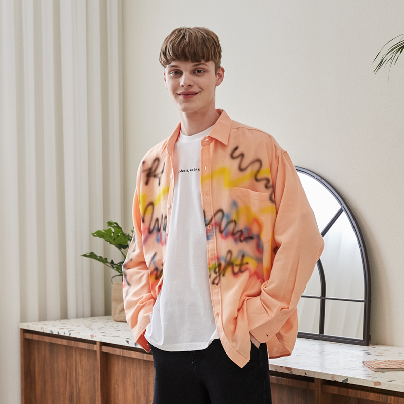 [unisex] spray shirts (orange)