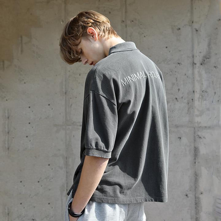 [시즌오프]미니멀프로젝트 피그먼트 시그니쳐 오버핏 PK 폴로 티셔츠 MPK102 / 4color m