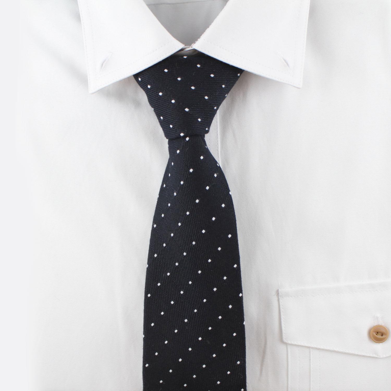 도트 네이비 넥타이 N501
